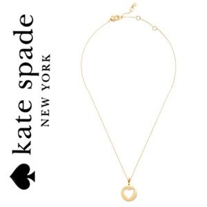 KATE SPADE NWT Gold Heart Necklace